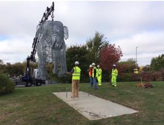Rosie the elephant sculpture