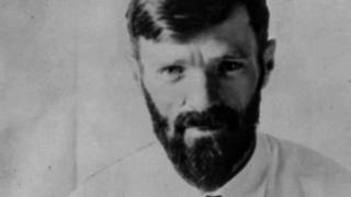 Photo of English author DH Lawrence