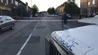 The incident took place in the Springfield road in west Belfast