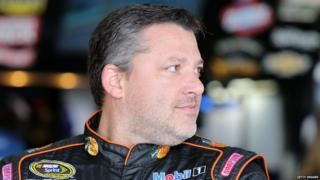 Tony Stewart at Watkins Glen International on 7 August, 2015