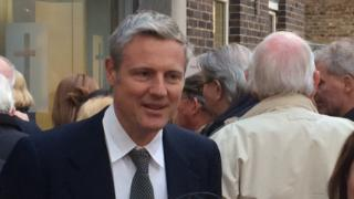 Zac Goldsmith at the meeting