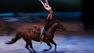 Cavalia performs in Beijing