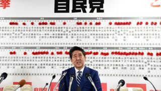Shinzo Abe seçim konuşması