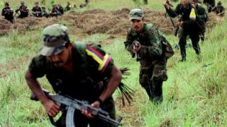 Rebels of the Revolutionary Armed Forced of Colombia, FARC, 2001