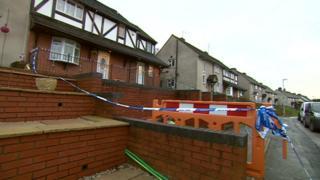 The scene in Lodge Crescent, Dudley