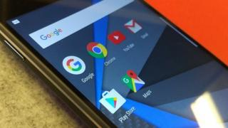 Google apps on a smartphone