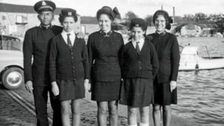 The Sinson family in Salvation Army uniform in 1971
