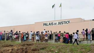 Le palais de justice à Libreville.