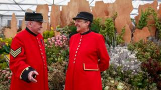 Chelsea pensioners at event