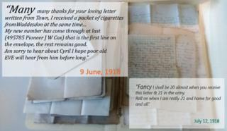 Extract from letters