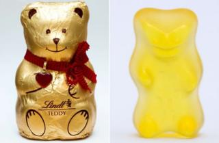 Lindt's bear and Haribo's gummy bear