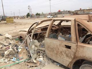 The place in Basra where Major Bacon died - a bombed-out car (no connection)