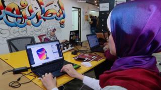 IT workers at Gaza Sky Geeks