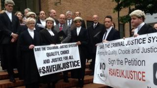 Lawyers protesting over proposed changes to the criminal justice system