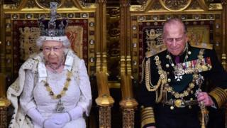 Queen along with Prince Philip