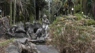 Estátua no parque Jardim da Luz, no centro de São Paulo