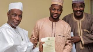 Kingdom with Kano State goment secretary Usman Alhaji after im appointment