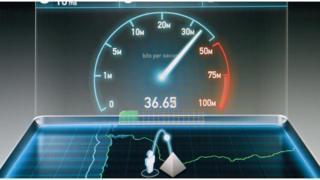 An internet speed test