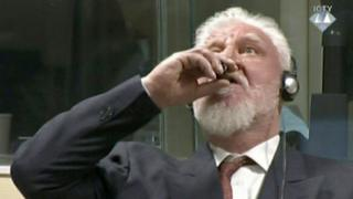 Slobodan Praljak in court at The Hague, 29 November