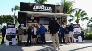 Lavazza Coffee on display in Aventura, Florida
