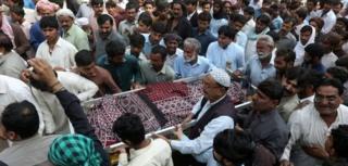 Saldırı kurbanının cenazesi