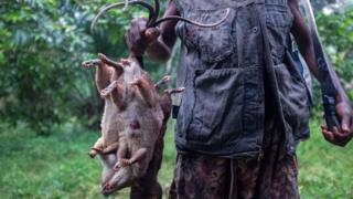 Man wey hold three dead rats