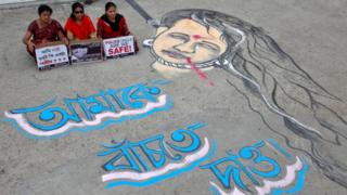 Tecavüzleri protesto eylemi