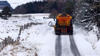 Gritting the roads