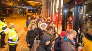 Sales shoppers in Wrexham