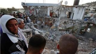 Scene of gunbattle in Surif (27/07/16)