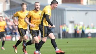 Newport celebrate opening goal