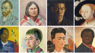 Un mosaíco de retratos