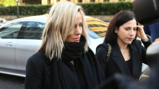 TV presenter Caroline Flack arrives at Highbury Corner Magistrates' Court