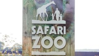 Sign at South Lakes Safari Zoo