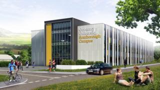 Artist's impression of Coventry University's Scarborough Campus