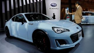 Subaru BRZ car at Tokyo Motor Show