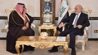 ثامر سبهان در دیدار با ابراهیم جعفری، وزیر خارجه عراق