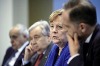 آنگلا مرکل، صدراعظم آلمان و آنتونیو گوترش، دبیر کل سازمان ملل