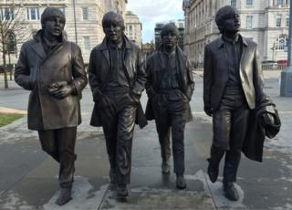 The new Beatles statue in Liverpool