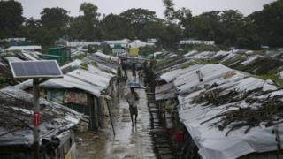 A refugee camp in Cox's Bazar, Bangladesh