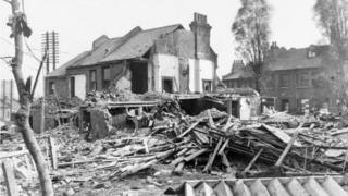 Wrecked homes in Hither Green