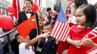 美国华人社区庆祝中国国庆