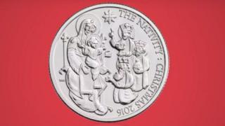 The Christmas coin designed by the Bishop of St Asaph