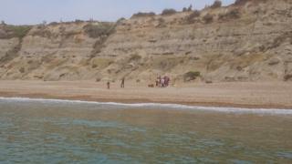 Recue scene at Hengistbury Head