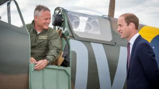The Duke of Cambridge visited in 2015 to see a newly restored Supermarine Spitfire Mark I N3200.