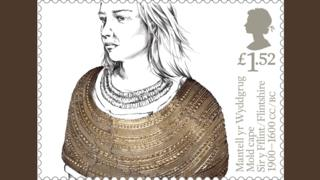 Mold Gold Cape on a stamp