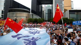 Hong Kong Tamar Park pro-government