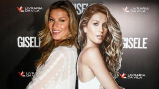 Brazilian model Gisele Bundchen poses for pictures during a book signing (06 November 2015)