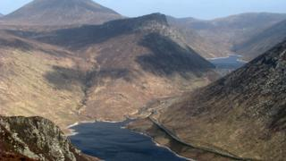 Ben Crom (top right) and Silent Valley reservoirs