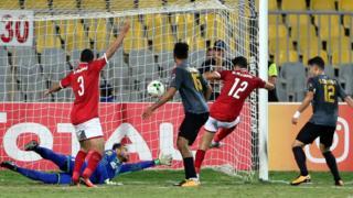Dis na CAF champions league match between AL AHLY VS ESPERANCE
